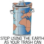 Trash Can Earth T-Shirts and Gifts