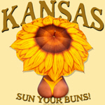 Kansas -Sun Your Buns!