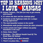 Top 10 Reasons Why I Love Kansas