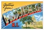 Providence RI Vintage Postcard