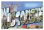 Wisconsin Vintage Postcard