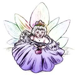 Fairy Child Princess, Enchanting Fantasy Art Gifts