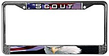 Scout & Eagle License Plate Frames