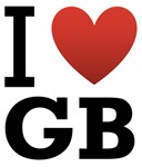 I Love GB light tee