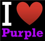 I Love Purple Dark