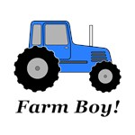 Farm Boy Blue Tractor