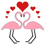 Flamingo Hearts