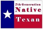 7th Generation Native Texan Flag