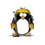 Gold Hockey Penguin
