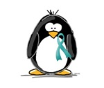 Teal Ribbon Penguin