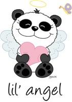 lil' pink panda angel