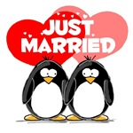 Just Married Penguins