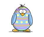 Blue Easter Egg Penguin