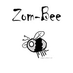 Get it? Zom-Bee!  A zombie bee!  Cute and funny, this is sure to tickle older kids (and some moms and dads, too!) Perfect emergency halloween costume or for every day. Good gift for any child (or grown up!) who is into fantasy, sci fi, creatures, or monst