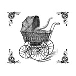Little monster Cthulhu baby carriage