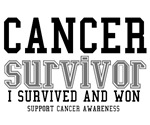Cancer Survivor T-Shirts (Grey)