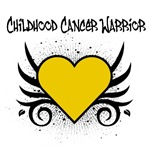 Childhood Cancer Warrior Tattoo Shirts &amp; Gifts