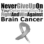 Brain Cancer Never Give Up Shirts &amp; Gifts