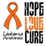 Hope Love Cure Leukemia Shirts & Gifts