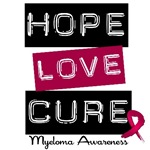 Hope Love Cure Multiple Myeloma T-Shirts