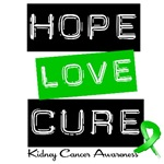Hope Love Cure Kidney Cancer T-Shirts