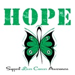 Hope Butterfly Liver Cancer Shirts & Gifts
