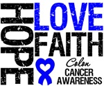 Hope Love Faith Colon Cancer Shirts and Gifts