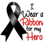 I Wear a Ribbon Hero Melanoma Cancer Shirts