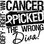 Lung Cancer Picked The Wrong Diva Shirts