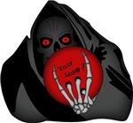 The Grim Bowler!