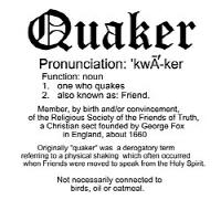 Quaker Definition