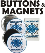 Inclusive Community Buttons & Magnets