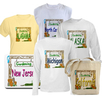Home Gardens in every state. Shirts and home decor
