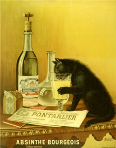 Absinthe Bourgeois Chat Noir