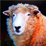 Romney Sheep Watercolor