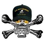 USN Seabees Skull
