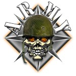 US Army Camo Helmet Skull