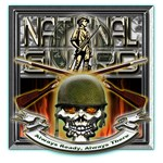 Army National Guard Skull and Rifles