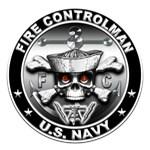 USN Fire Controlman Skull