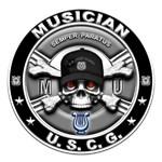 USCG Musician Skull MU