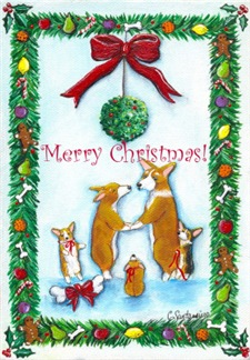 New! CORGI CHRISTMAS CARDS!!