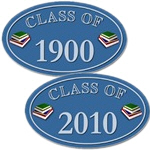 Class Of (Year) Blue Oval Vinyl Stickers