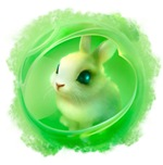 Cute Bunny in Green