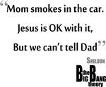 Big Bang Theory Mom Smokes in the Car