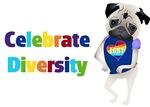 Gay Pride, Diversity, Equality Pugs