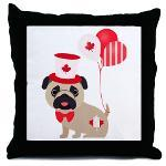 Canadian Pug with Balloons