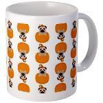 Halloween Pug in A Pumpkin