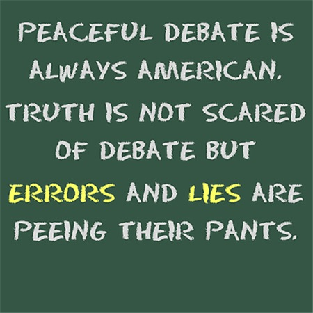Peaceful debate is always American