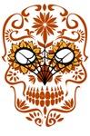 Orange Sugar Skull