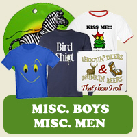Misc. Male : Tees, Gifts &amp; Apparel 